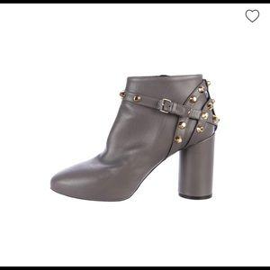 Balenciaga Wymann Studded Round-Toe Ankle Boots